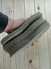 """Стельки """"ВАЛЕНОК"""" (плотный войлок) зимние 48 размер Украина толщина 8мм беж СТЕЛ-290034, фото 2"""