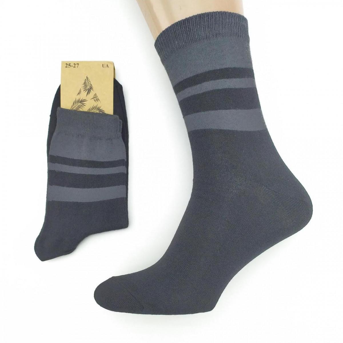 Носки мужские демисезонные средние Loft Socks 25-27р черные с серыми полосками 20034115