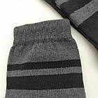 Носки мужские демисезонные средние Loft Socks 27-29р черные с серыми полосками 20034146, фото 3