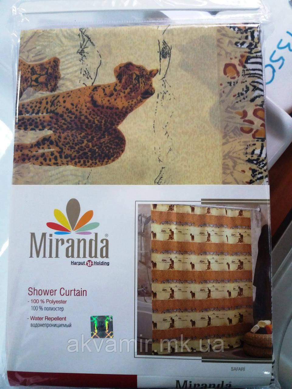 Штора в ванную  Miranda Safari (Турция) 180х200 см бежевая