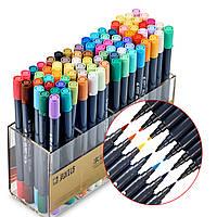 Набор двусторонних акварельных маркеров STA 80 цветов (B141219)