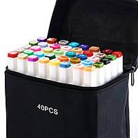 Видеообзор! 40 цветов! Набор двусторонних маркеров Touch для рисования и скетчинга на спиртовой основе