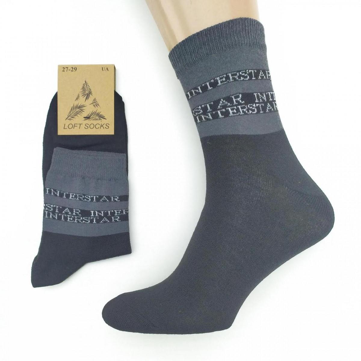 Носки мужские демисезонные, INTERSTAR, средние, Loft Socks, р27-29, черные, 20034122