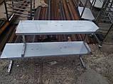 Полку 1 ур. 1500х300х150 з 201 нержавіючої сталі, фото 5