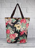 Сумка хозяйственная трансформер текстильная цветы LeSports 9801-25, фото 1