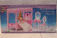 """Мебель """"Спальня"""" для куклы, кровать с балдахином, трюмо, стул"""