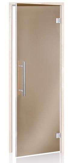 Стеклянная дверь Andres Benelux бронзовая 70x190 см для бани и сауны (клён)