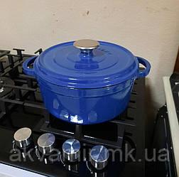 Кастрюля чугунная Fabiano C 24 синяя