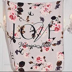 Мягкий  велюровый  плюшевый плед на  шерпе от Виктории Сикрет Victoria Secret Оригинал