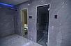 Стеклянная дверь для бани и сауны GREUS Classic матовая бронза 70/200 липа, фото 2