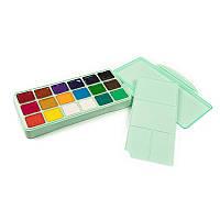 Профессиональная гуашь для художников и любителей HIMI 18 цветов по 30 мл (540 мл) мятная зеленая коробка