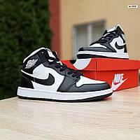 Женские кроссовки Nike Air Jordan 1 Retro High (бело-черные) 20250
