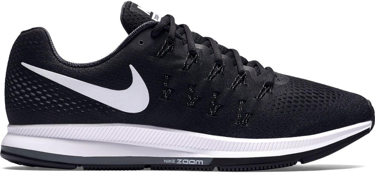 Кроссовки Nike Zoom Pegasus 33 Black White Черные мужские