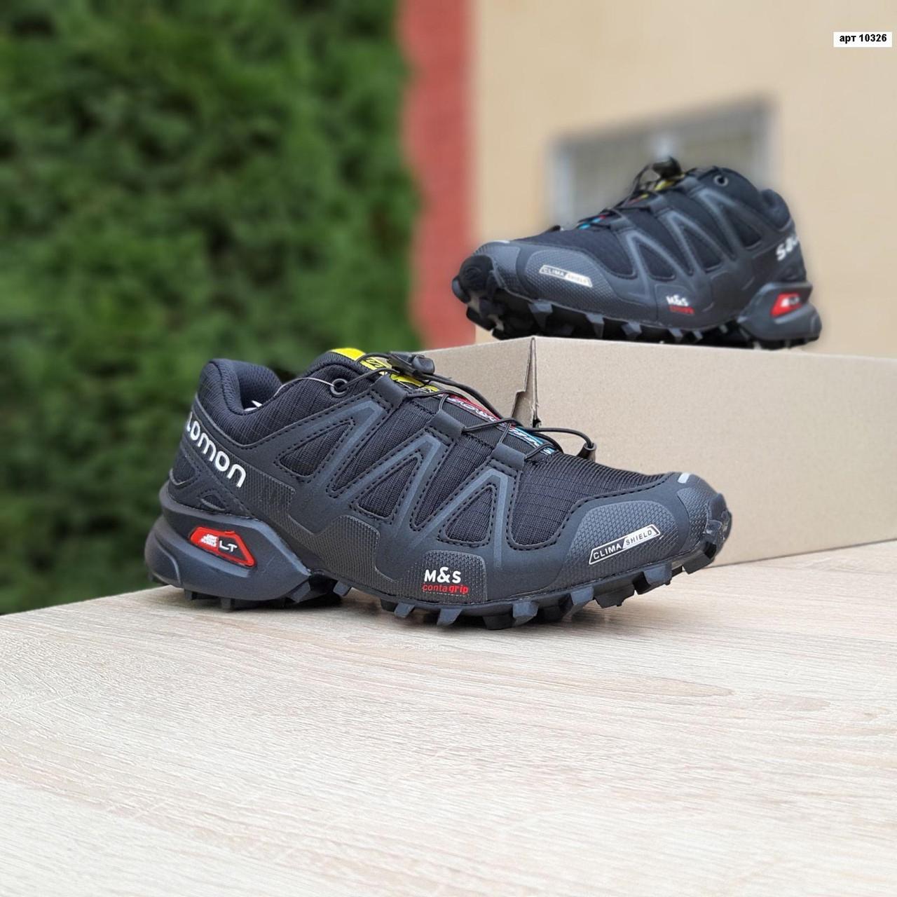 Мужские кроссовки Salomon Speedcross 3 (черно-белые) 10326
