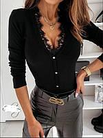 Кофта женская с кружевом 010 В, фото 1