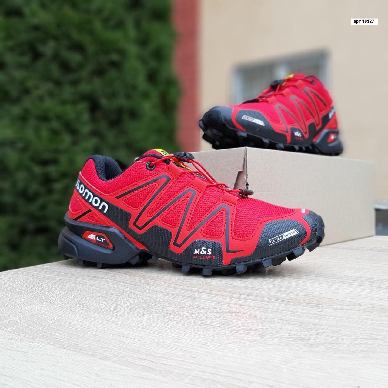 Мужские кроссовки Salomon Speedcross 3 (красные) 10327
