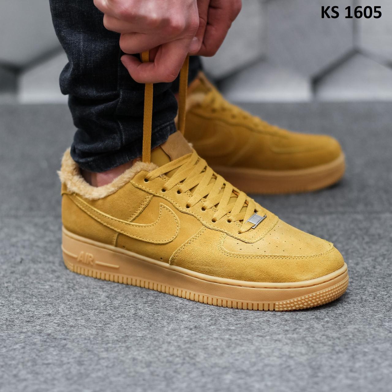 Мужские зимние кроссовки Nike Air Force 1 07 Mid LV8 (коричневые) KS 1605