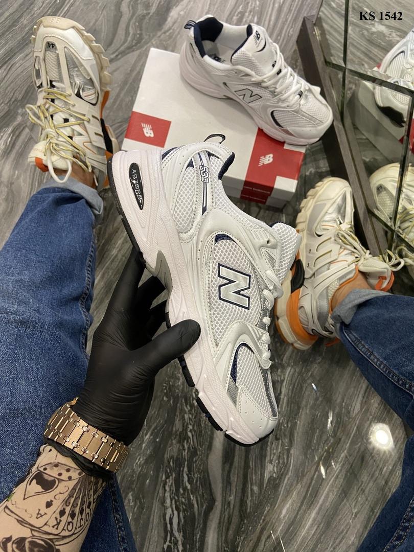 Мужские кроссовки New Balance 530 abzorb (белые) KS 1542