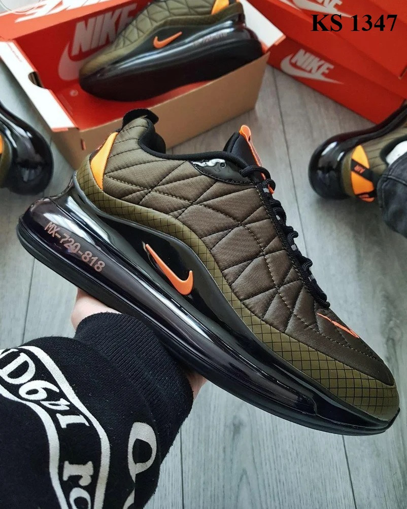 Мужские кроссовки Nike Air Max AM720-818 (зеленые) - термо KS 1347