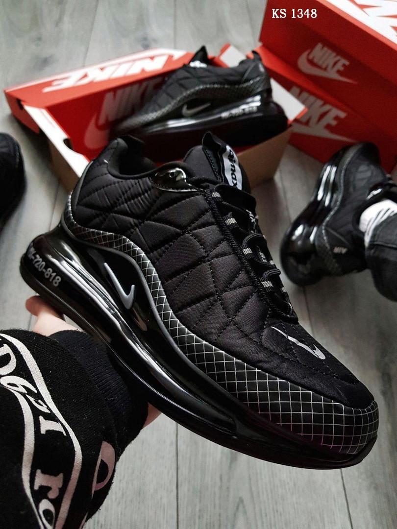 Мужские кроссовки Nike Air Max AM720-818 (черные) - термо KS 1348