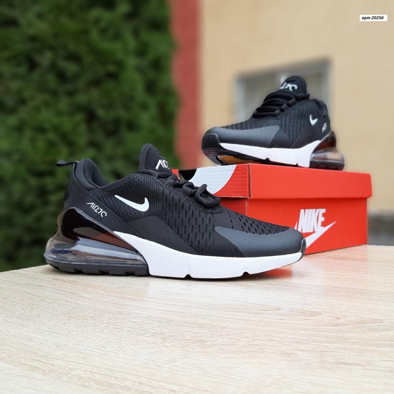 Женские кроссовки Nike Air Max 270 (черно-белые) 20256