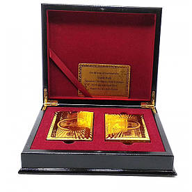 Карты игральные пластиковые Duke Gold Foil 2 колоды по 54 листа 87х62 мм в шкатулке (DN32416)