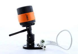 IP камера настеннная стельова вулична UKC CCTV 7010IP Чорний з оранжевим (006244)