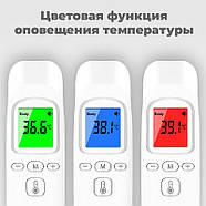 Электронный инфракрасный бесконтактный медицинский термометр-градусник JETIX Phicon с коррекцией температуры, фото 3