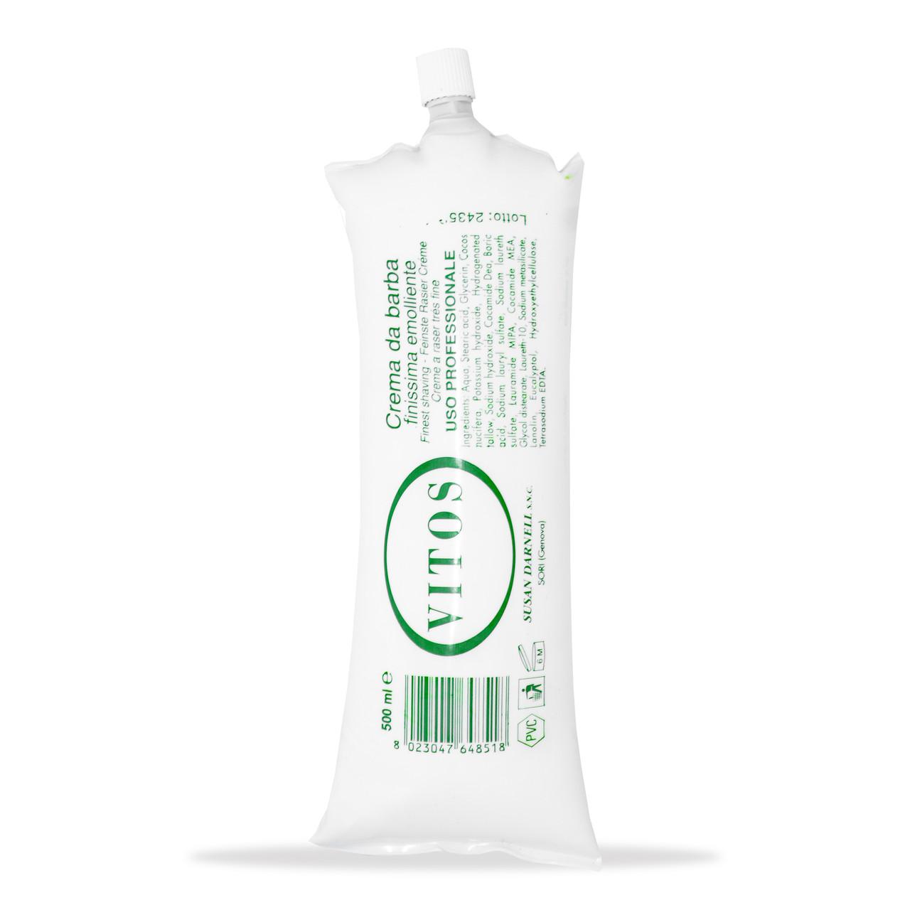 Крем для бритья эвкалипт Vitos Shaving Cream 500мл