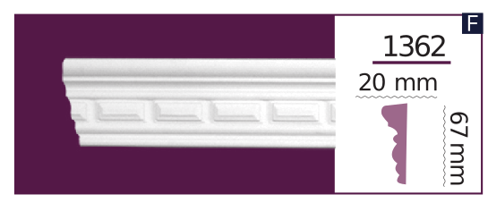 Молдинг для стен  Home Décor 1362 (2.44м)  , лепной декор из полиуретана