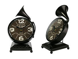 Настольные Часы Антик Граммофон Металл 27х17х12,5 см Темно-коричневый (20801)