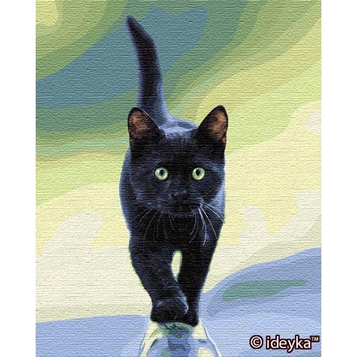 Картина по номерам Кошачья грация Sergey Polyushko 40 х 50 ТМ Идейка КНО4206