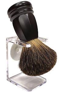 Помазок для бритья барсук Rainer Dittmar Pfeilring 1015-6-1 на подставке Черный