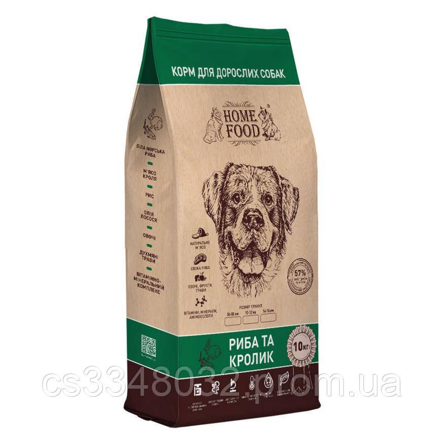 Home Food DOG ADULT MEDIUM  кор для взрослых собак «Рыба и кролик» 10кг
