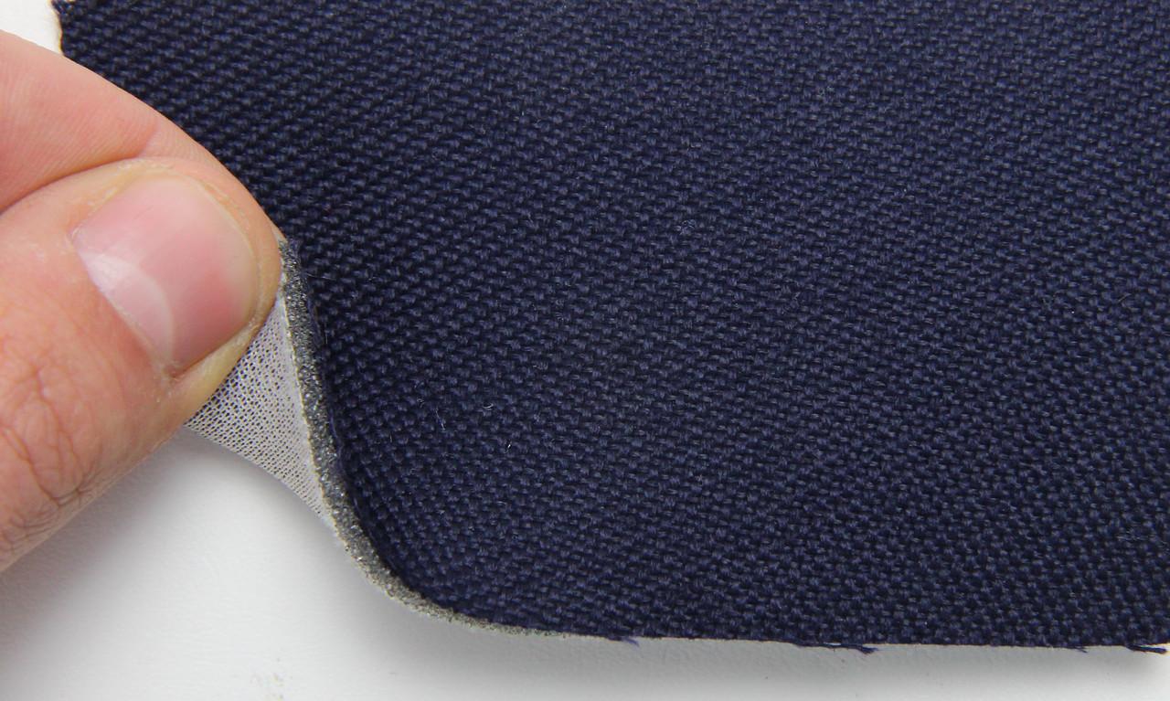 Автоткань оригинальная для боков сидений (темно-синий 7627/4), основа на поролоне, толщина 2мм, шир 140см