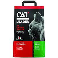 """Ультракомкующийся наполнитель Cat Leader Clumping 2xOdour Attack Fresh """"Двойная свежесть"""" (5 кг.)"""