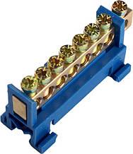 Шина нулевая на DIN-рейку 7 отверстий