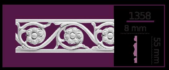 Молдинг для стен  Home Décor 1358 (2.00м)  , лепной декор из полиуретана
