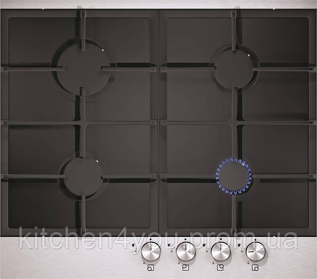 Sistema 301 FFD (600 мм.) газовая варочная поверхность цвет черное стекло / алюминиевая рамка