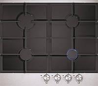 Sistema 301 FFD (600 мм.) газовая варочная поверхность цвет черное стекло / алюминиевая рамка, фото 1