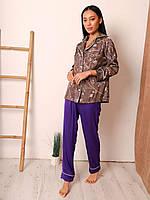 Шикарный шелковый домашний костюм, фото 1