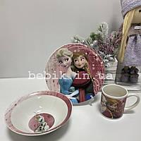 Подарочный набор детской посуды из керамики Холодное Сердце
