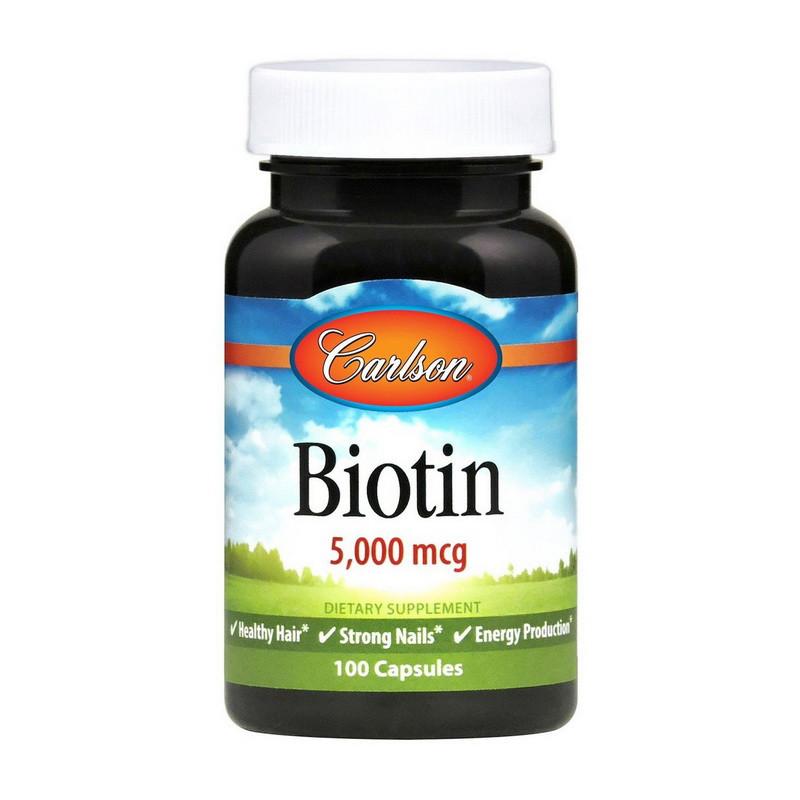 Біотин Carlson Labs Biotin 5000 mcg caps 100