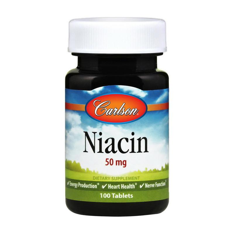 Ниацин (никотиновая кислота) Carlson Labs Niacin 50 mg 100 tab