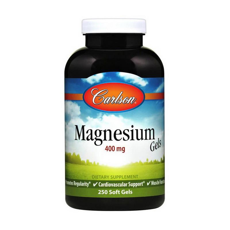 Магний (магния оксид) Carlson Labs Magnesium Gels 400 mg 250 soft gels