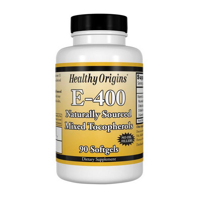 Витамин E 400 ME Healthy Origins Vitamin E-400 90 softgels