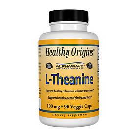 L-теанін Healthy Origins L-Theanine 100 mg 90 veg caps