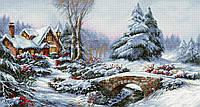 Набор для вышивания нитками LUCA-S Зимний пейзаж (BU5002)
