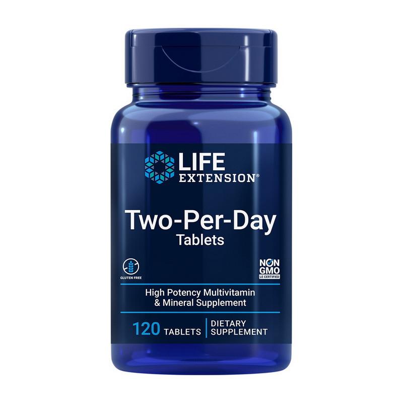 Комплекс вітамінів і мінералів Life Extension Two-Per-Day Tablets 120 tab