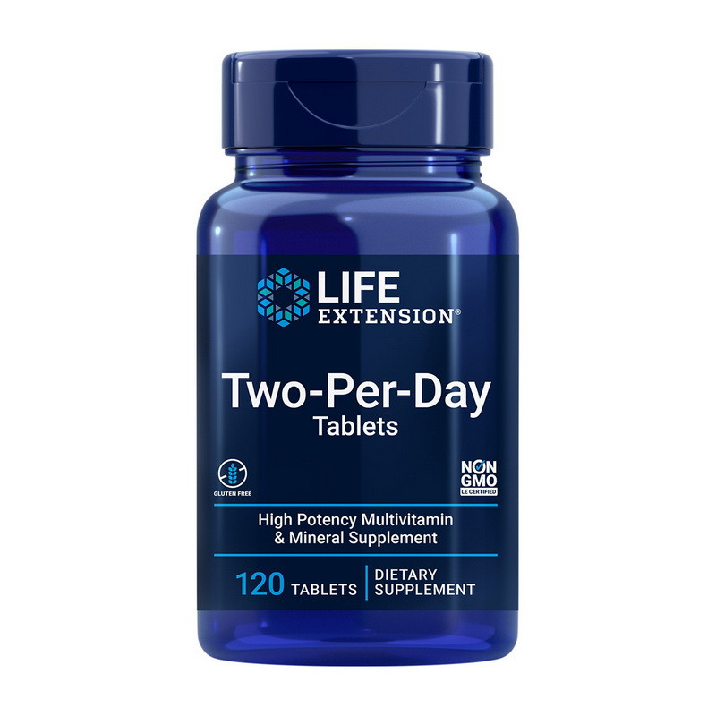 Комплекс витаминов и минералов Life Extension Two-Per-Day Tablets 120 tab